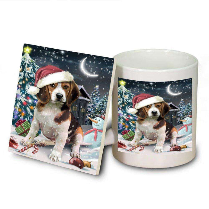 Have a Holly Jolly Beagle Dog Christmas Mug and Coaster Set MUC0081