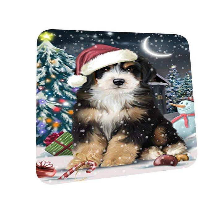 Have a Holly Jolly Bernedoodle Dog Christmas Coasters CST064 (Set of 4)