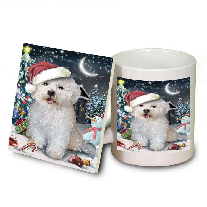 Have a Holly Jolly Bichon Frise Dog Christmas Mug and Coaster Set MUC0088