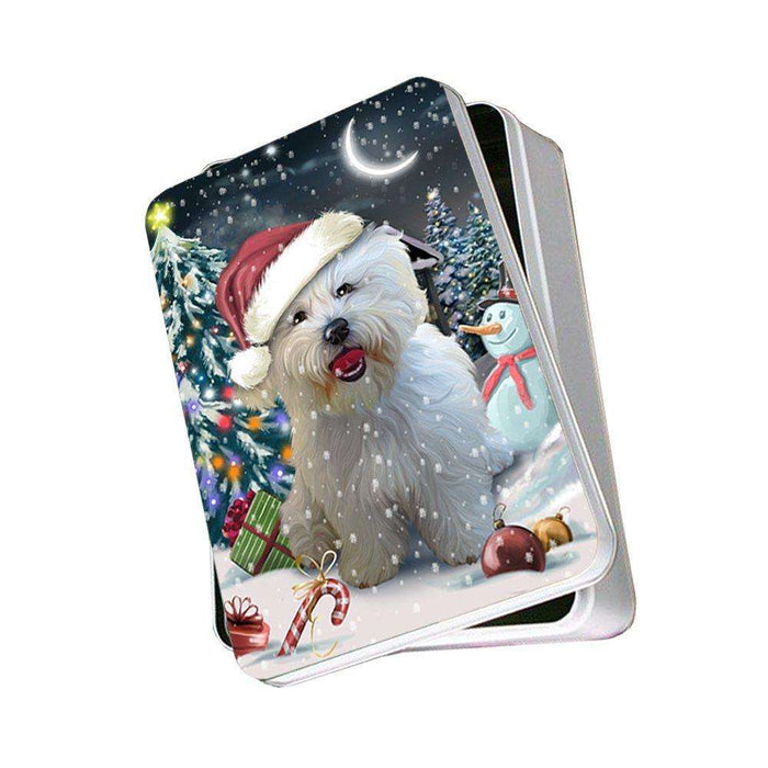 Have a Holly Jolly Bichon Frise Dog Christmas Photo Storage Tin PTIN0086