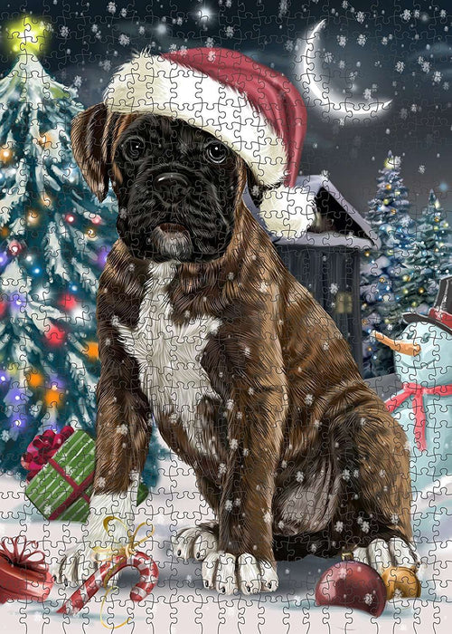 Have a Holly Jolly Boxer Dog Christmas Puzzle with Photo Tin PUZL069
