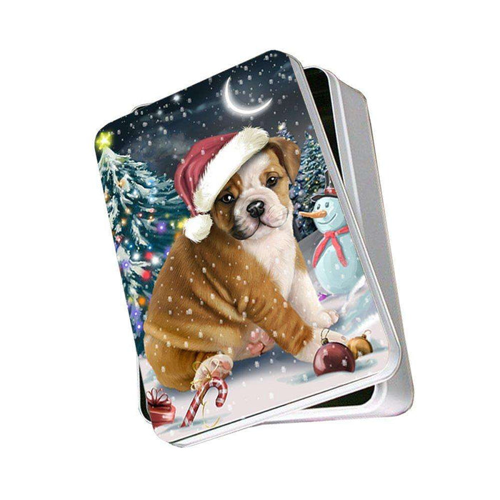 Have a Holly Jolly Bulldog Christmas Photo Storage Tin PTIN0096