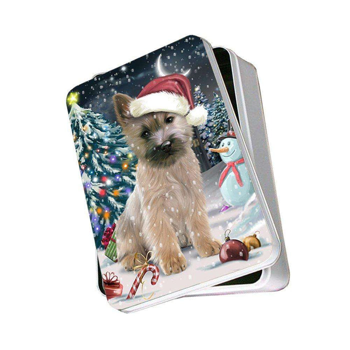 Have a Holly Jolly Cairn Terrier Dog Christmas Photo Storage Tin PTIN0099