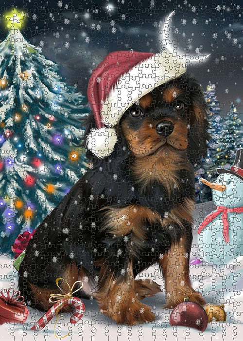 Have a Holly Jolly Cavalier King Charles Spaniel Dog Christmas Puzzle with Photo Tin PUZL129