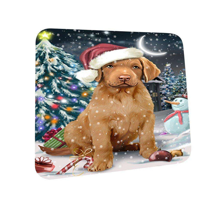 Have a Holly Jolly Chesapeake Bay Retriever Dog Christmas Coasters CST119 (Set of 4)