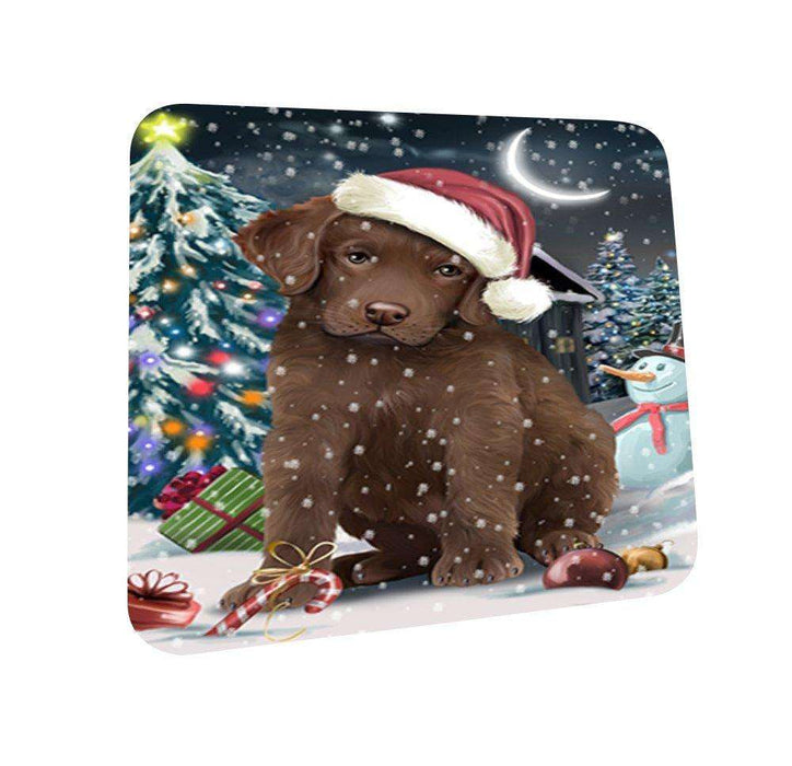 Have a Holly Jolly Chesapeake Bay Retriever Dog Christmas Coasters CST120 (Set of 4)