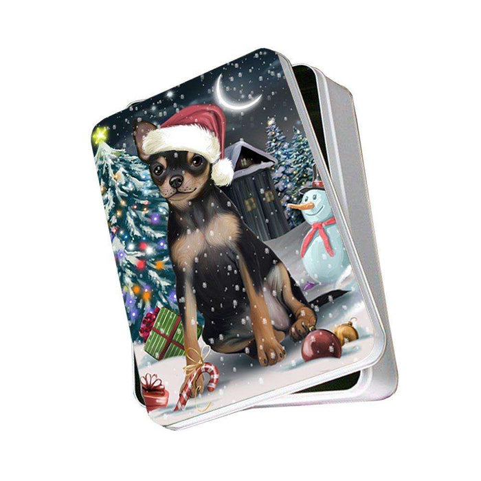 Have a Holly Jolly Chihuahua Dog Christmas Photo Storage Tin PTIN0108