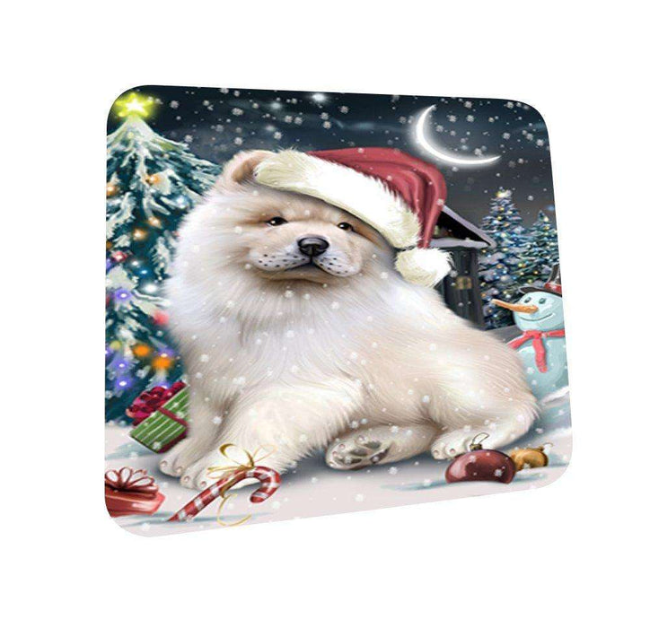 Have a Holly Jolly Chow Chow Dog Christmas Coasters CST017 (Set of 4)