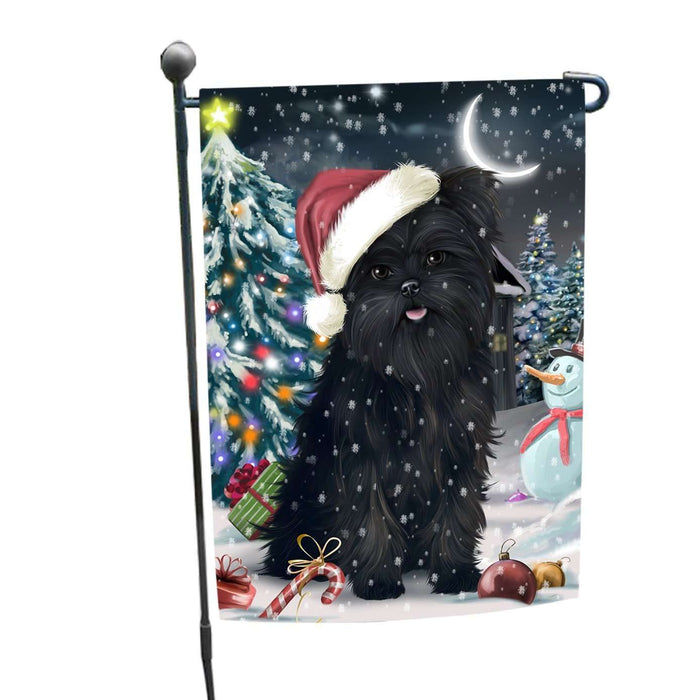 Have a Holly Jolly Christmas Affenpinschers Dog in Holiday Background Garden Flag D131