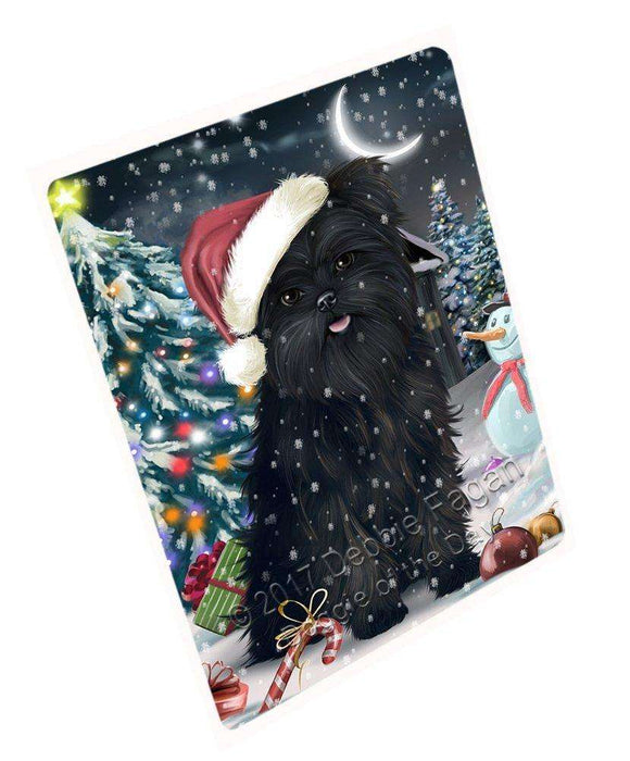"Have A Holly Jolly Christmas Affenpinschers Dog In Holiday Background Magnet Small (5.5"" x 4.25"") D131"