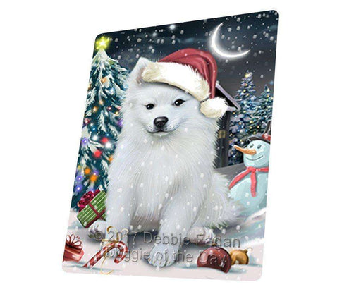 "Have A Holly Jolly Christmas American Eskimo Dog In Holiday Background Magnet Mini (3.5"" x 2"") d176"