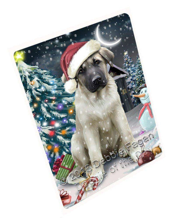 Have a Holly Jolly Christmas Anatolian Shepherd Dog in Holiday Background Large Refrigerator / Dishwasher Magnet D007