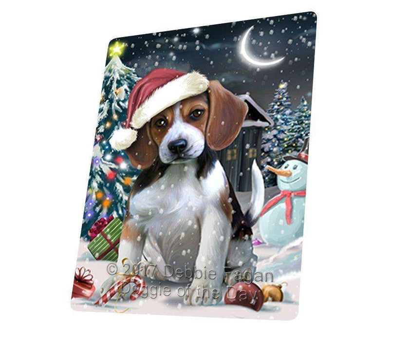 "Have A Holly Jolly Christmas Beagle Dog In Holiday Background Magnet Mini (3.5"" x 2"") D063"