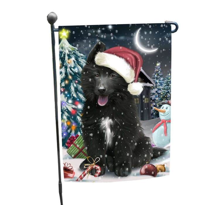 Have a Holly Jolly Christmas Belgian Shepherd Dog in Holiday Background Garden Flag D008