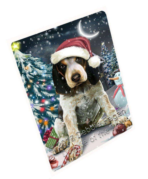 "Have A Holly Jolly Christmas Bluetick Coonhound Dog In Holiday Background Magnet Mini (3.5"" x 2"") D020"