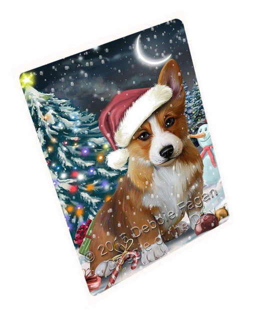 "Have A Holly Jolly Christmas Corgi Dog In Holiday Background Magnet Mini (3.5"" x 2"") D023"