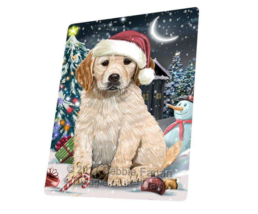 "Have A Holly Jolly Christmas Golden Retriever Dog In Holiday Background Magnet Mini (3.5"" x 2"") D073"