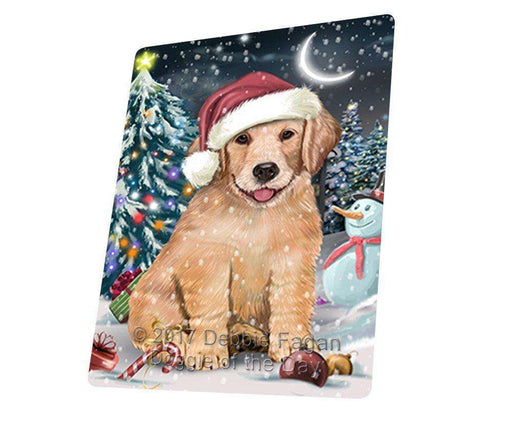"Have A Holly Jolly Christmas Golden Retriever Dog In Holiday Background Magnet Small (5.5"" x 4.25"") d076"