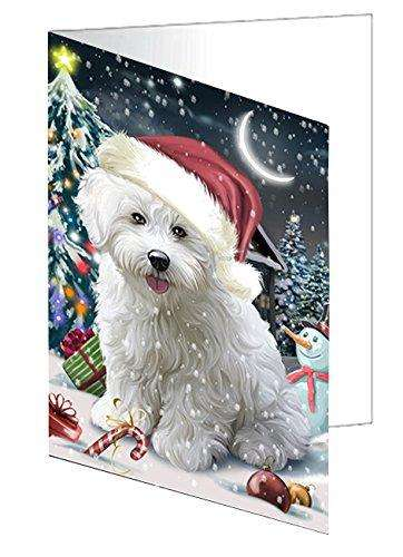 Have a Holly Jolly Christmas Happy Holidays Bichon Dog Greeting Card GCD130