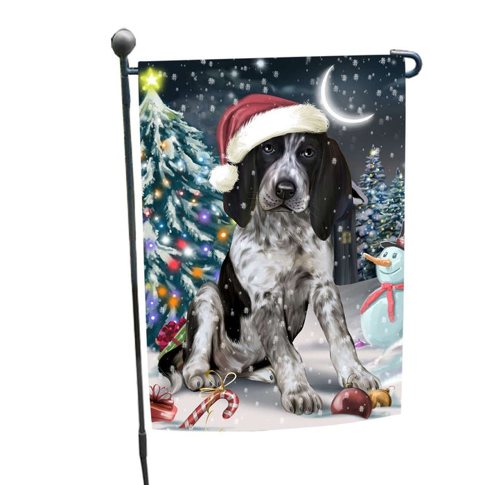 Have a Holly Jolly Christmas Happy Holidays Bluetick Coonhound Dog Garden Flag FLG221