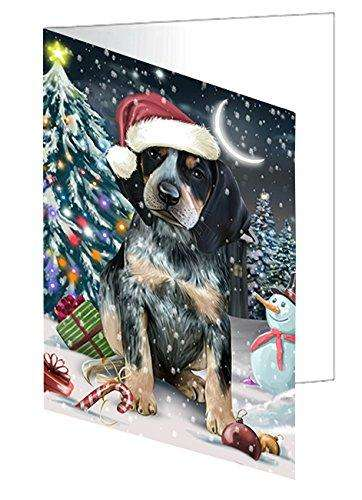 Have a Holly Jolly Christmas Happy Holidays Bluetick Coonhound Dog Greeting Card GCD2390