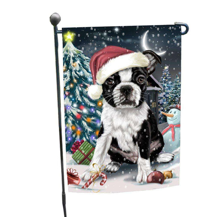 Have a Holly Jolly Christmas Happy Holidays Boston Terrier Dog Garden Flag FLG261