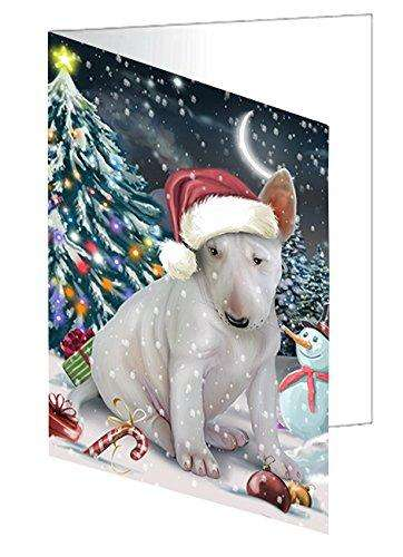 Have a Holly Jolly Christmas Happy Holidays Bull Terrier Dog Greeting Card GCD2435