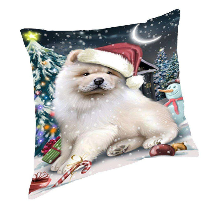 Have a Holly Jolly Christmas Happy Holidays Chow Chow Dog Throw Pillow PIL344