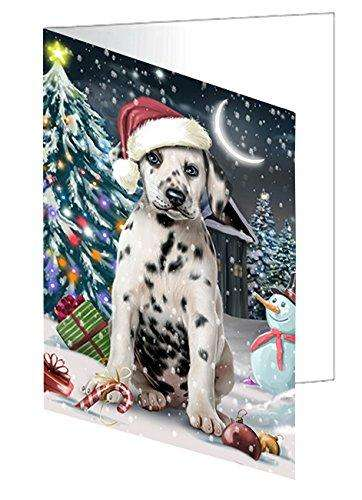 Have a Holly Jolly Christmas Happy Holidays Dalmatian Dog Greeting Card GCD485