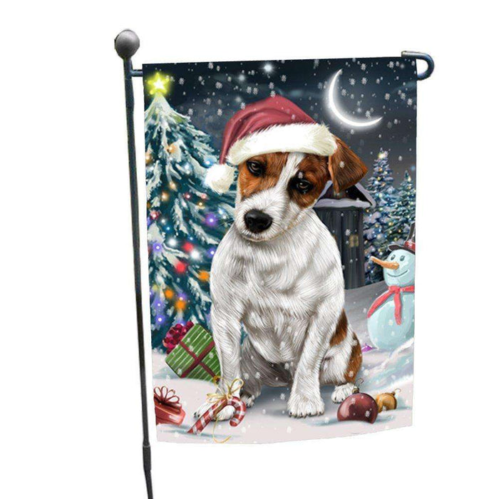 Have a Holly Jolly Christmas Happy Holidays Jack Russell Dog Garden Flag FLG286