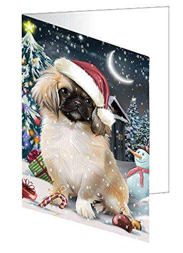 Have a Holly Jolly Christmas Happy Holidays Pekingese Dog Greeting Card GCD565