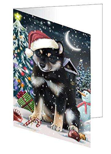 Have a Holly Jolly Christmas Happy Holidays Shiba Inu Dog Greeting Card GCD620