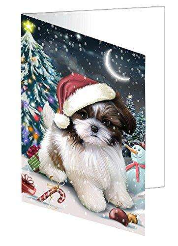 Have a Holly Jolly Christmas Happy Holidays Shih Tzu Dog Greeting Card GCD635