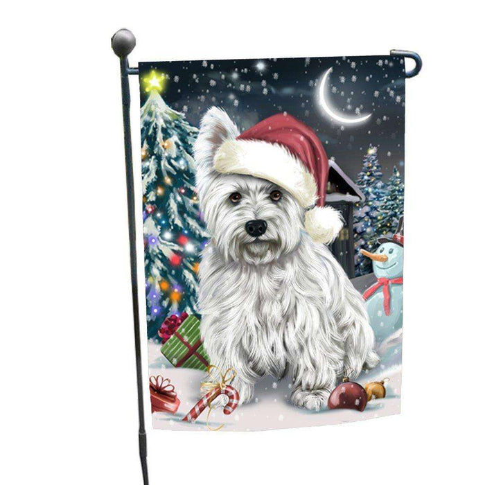Have a Holly Jolly Christmas Happy Holidays West Highland White Terrier Dog Garden Flag FLG270