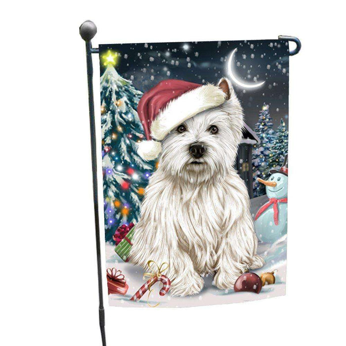 Have a Holly Jolly Christmas Happy Holidays West Highland White Terrier Dog Garden Flag FLG271