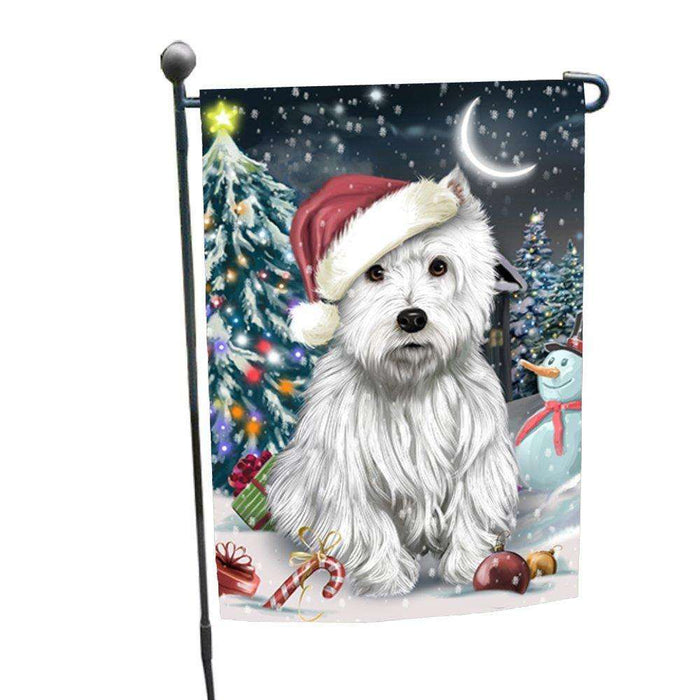 Have a Holly Jolly Christmas Happy Holidays West Highland White Terrier Dog Garden Flag FLG272