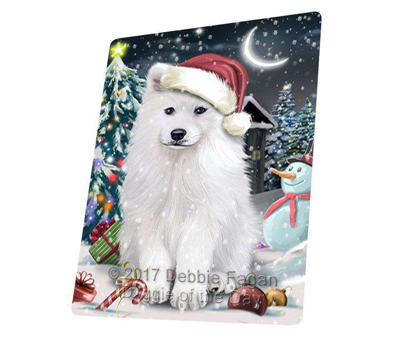 Have a Holly Jolly Christmas Samoyed Dog in Holiday Background Large Refrigerator / Dishwasher Magnet D120