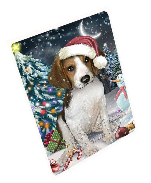 "Have A Holly Jolly Christmas Treeing Walker Coonhound Dog In Holiday Background Magnet Mini (3.5"" x 2"") D169"