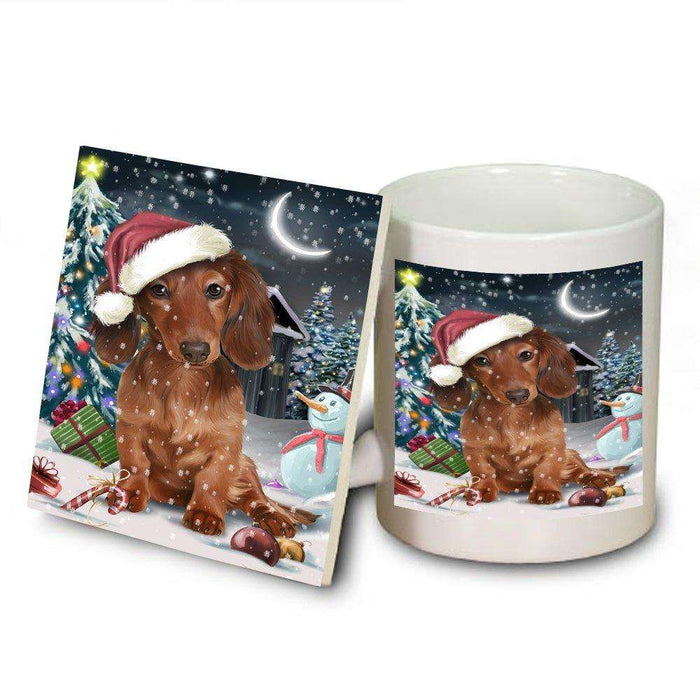 Have a Holly Jolly Dachshund Dog Christmas Mug and Coaster Set MUC0101