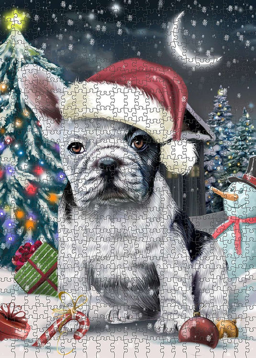 Have a Holly Jolly French Bulldog Christmas Puzzle with Photo Tin PUZL222