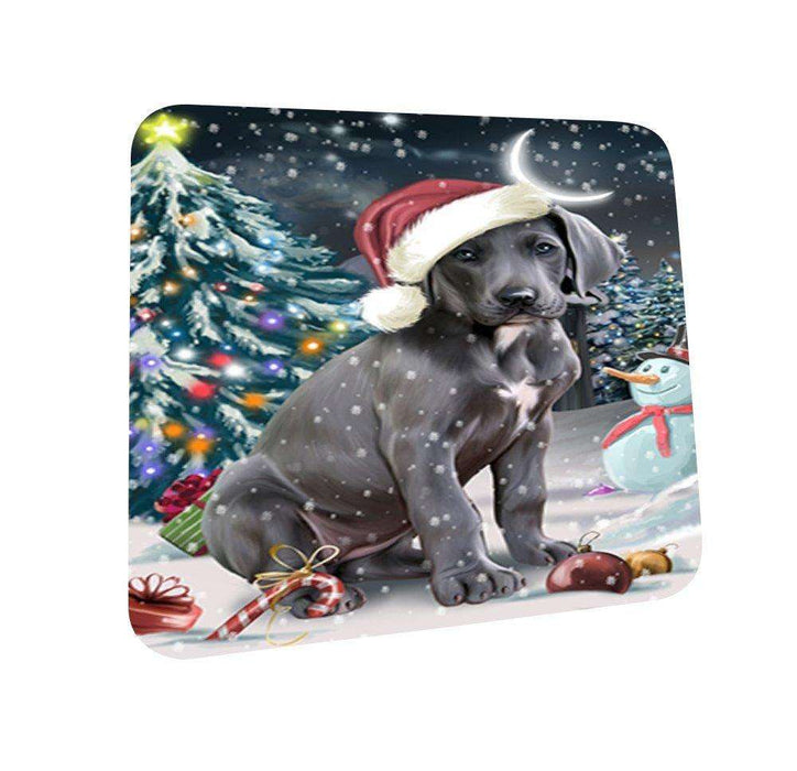 Have a Holly Jolly Great Dane Dog Christmas Coasters CST020 (Set of 4)