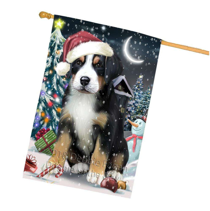 Have a Holly Jolly Greater Swiss Mountain Dog Christmas  House Flag FLG51792