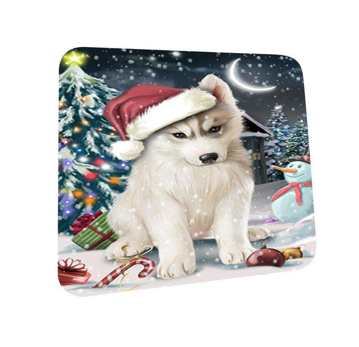 Have a Holly Jolly Husky Dog Christmas Coasters CST029 (Set of 4)