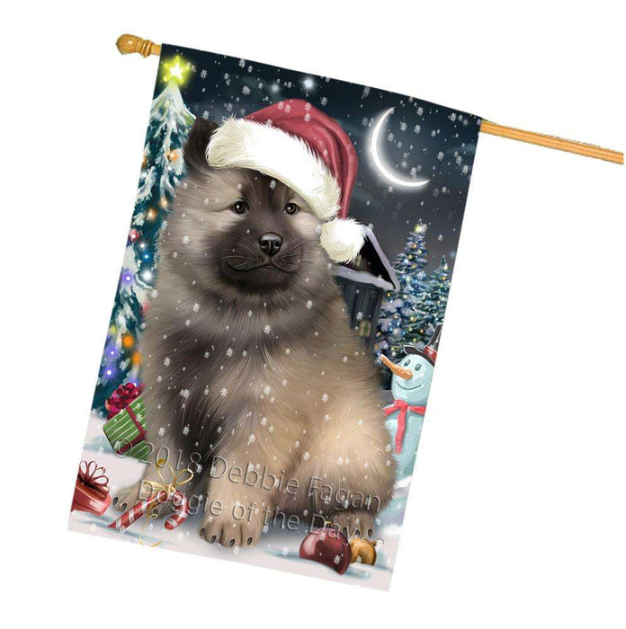 Have a Holly Jolly Keeshond Dog Christmas  House Flag FLG51799