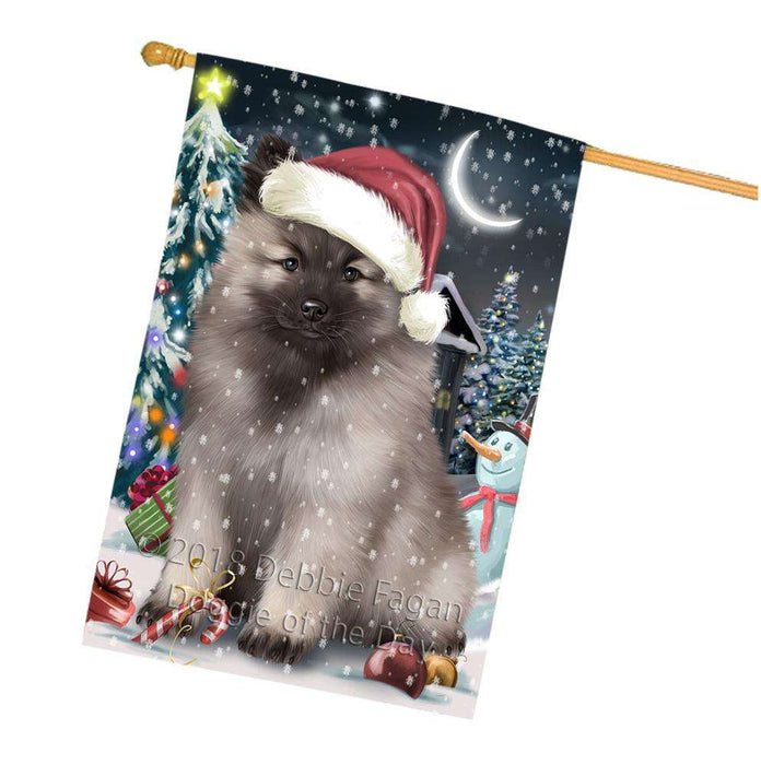 Have a Holly Jolly Keeshond Dog Christmas  House Flag FLG51800
