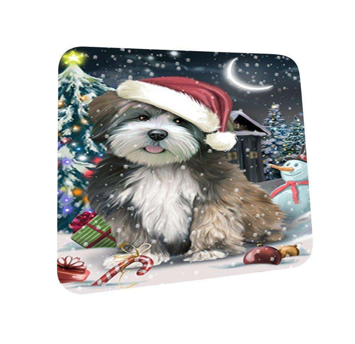 Have a Holly Jolly Lhasa Apso Dog Christmas Coasters CST152 (Set of 4)