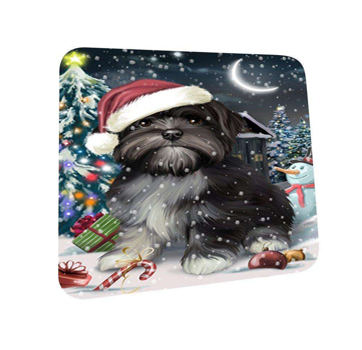 Have a Holly Jolly Lhasa Apso Dog Christmas Coasters CST153 (Set of 4)