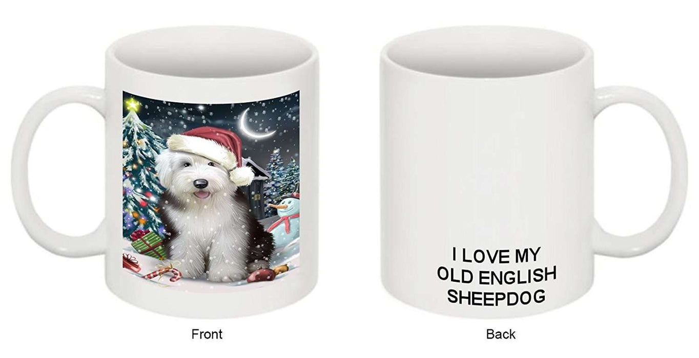 Have a Holly Jolly Old English Sheepdog Christmas Mug CMG0246