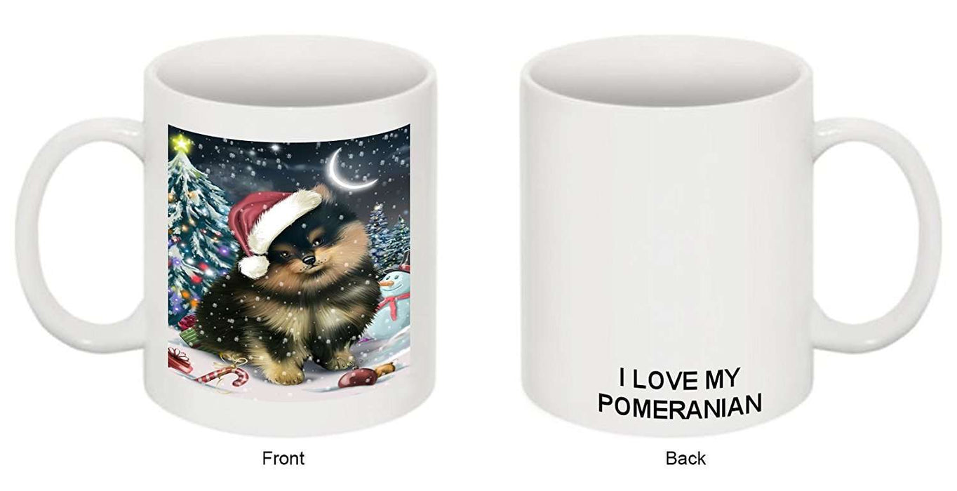 Have a Holly Jolly Pomeranian Dog Christmas Mug CMG0257