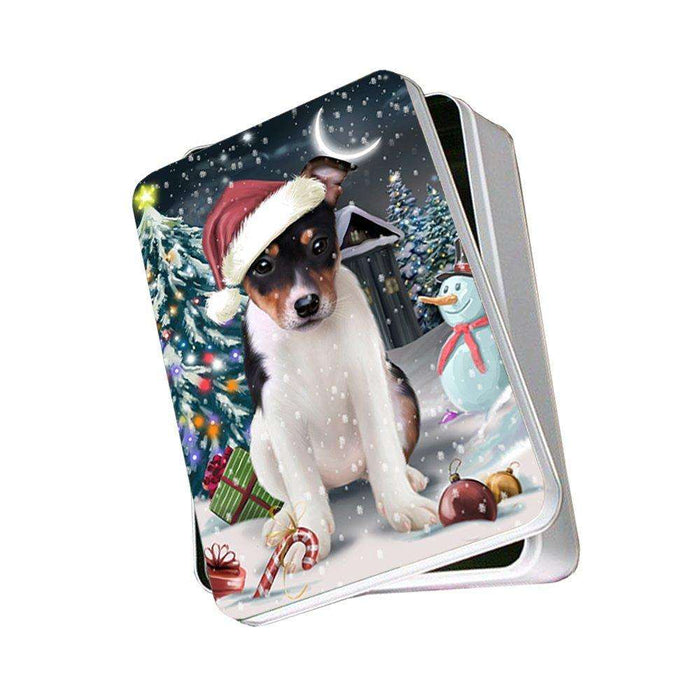 Have a Holly Jolly Rat Terrier Dog Christmas Photo Storage Tin PTIN0220